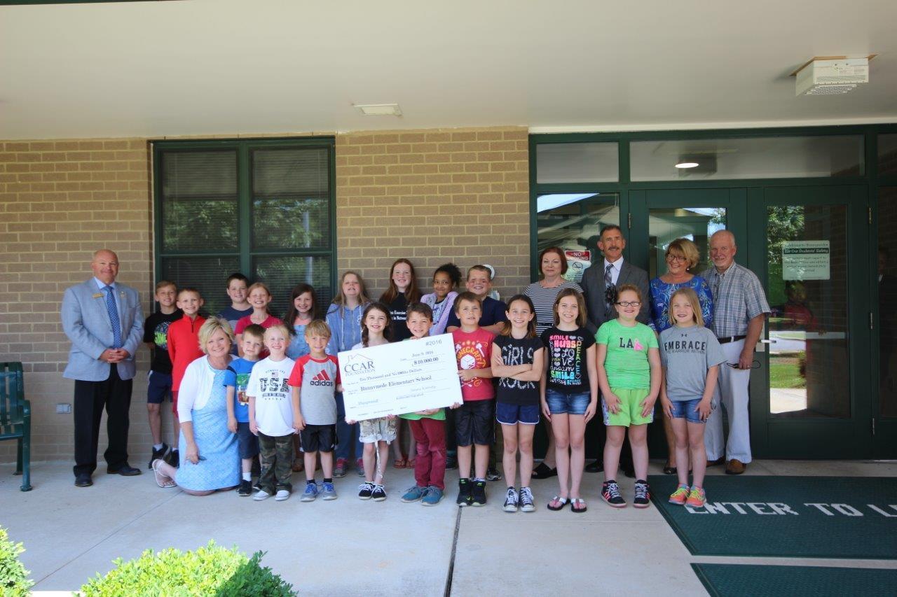2016 CCAR Foundation  grant to Runnymede Elementary School's playground fund.